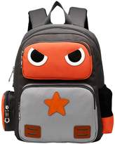 Tibes Cute Robot Kids Backpack School Bookbag Unisex Student Rucksack