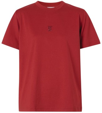 Burberry Embroidered Monogram-Detail T-Shirt