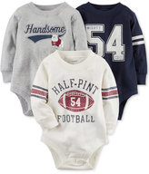 Carter's 3-Pk. Football Cotton Bodysuits, Baby Boys (0-24 months)