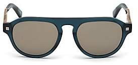 Ermenegildo Zegna Men's Shiny 53MM Aviator Sunglasses