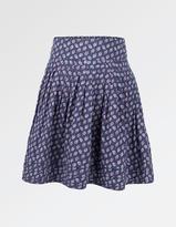 Fat Face Leaf Print Skirt
