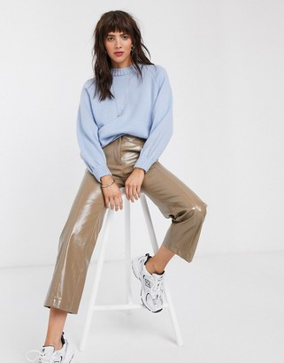 ASOS DESIGN oversized chunky sweater in powder blue