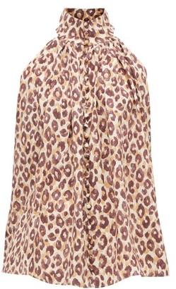 Zimmermann Super Eight Leopard-print Silk Blouse - Leopard