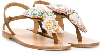 Bonpoint Bow Detail Thong Sandals