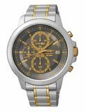 Seiko SKS449 Men's Watch Chronograph Dial Two-Tone Stainless Steel Band