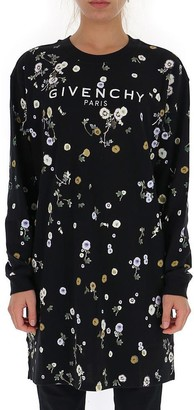 Givenchy Floral Long Sleeved T-Shirt Dress