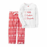 Carter's Girls Long Sleeve Pant Pajama Set-Toddler