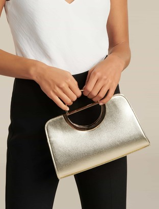 Forever New Lottie D-Ring Clutch - Gold - 00