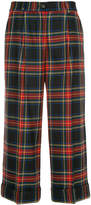 P.A.R.O.S.H. cropped checked trousers