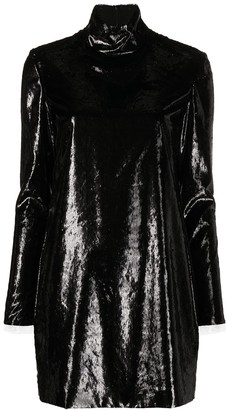 Philosophy di Lorenzo Serafini High-Neck Shift Mini Dress