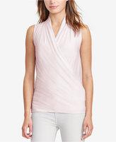 Lauren Ralph Lauren Jersey Surplice Shirt