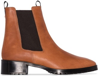 AEYDĒ Karlo 40mm leather ankle boots