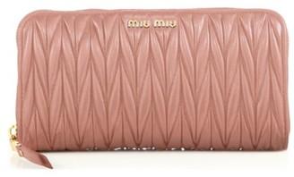 Miu Miu Matelasse Leather Zip Wallet