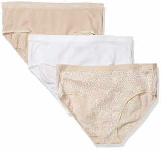 Warner's Women's Cotton Edge 3 Pack Hipster Panties