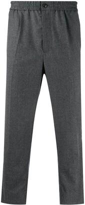 AMI Paris Elasticated Waist Cropped Trousers