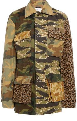 R 13 Abu Camo Cinched Waist Jacket