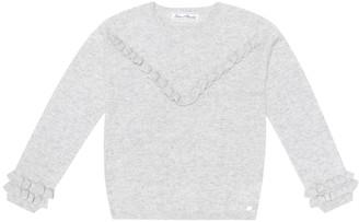 Tartine et Chocolat Ruffled cashmere sweater
