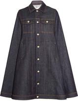 Givenchy Cape In Dark-blue Denim - Dark denim
