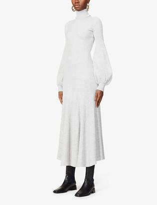 ANNA QUAN Amalia cotton-knit midi dress