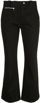 Proenza Schouler Crop Flare Pant-Cotton Suiting
