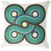Jonathan Adler Milano Concentric Loops Pillow, Turquoise