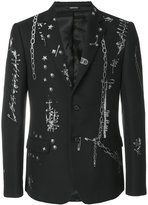 Alexander McQueen safety pin blazer - men - Cotton/Polyester/Wool - 48