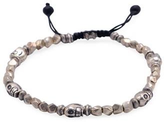 Jonas Studio Hells Kitchen Sterling Silver Skull & Beaded Bracelet