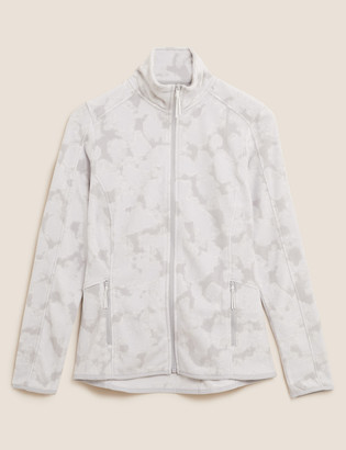 Marks and Spencer Zip Up Printed Fleece Jacket