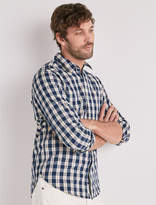 Lucky Brand Indigo Check One Pocket Shirt