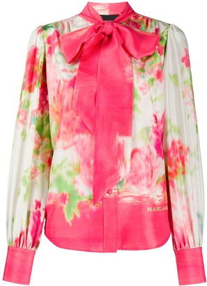 Marc Jacobs Abstract Floral Print Blouse