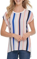 Dkny New York Striped High/Low Top