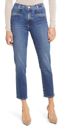 AG Jeans Isabelle High Waist Seamed Ankle Jeans