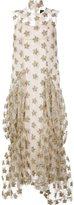 Simone Rocha floral tinsel maxi dress - women - Polyamide/Polyester - 8