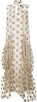 Simone Rocha floral tinsel maxi dress