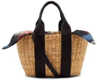 Muun Caba Mini Straw Bag - Womens - Black Multi