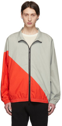 Unravel Grey and Red Cotton Motion Windbreaker Jacket