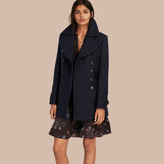 Burberry Wool Cashmere Blend Military Pea Coat