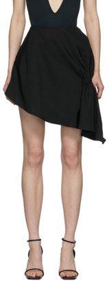 Vejas Black Gripped Thigh Skirt