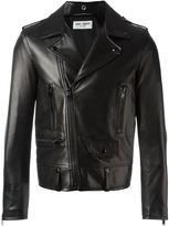 Saint Laurent classic biker jacket - men - Cotton/Lamb Skin/Leather/Cupro - 52