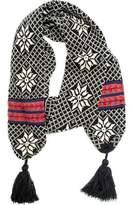Muk Luks Women's Snowflake Tassel Scarf
