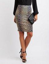 Charlotte Russe Leopard Pencil Skirt
