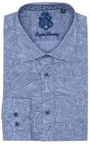 English Laundry Trim Fit Paisley Dress Shirt