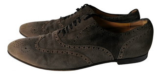 Gucci Anthracite Suede Lace ups