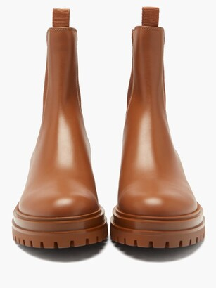 Gianvito Rossi Chester Leather Chelsea Boots - Tan