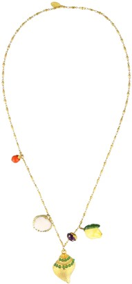 Katerina Psoma Shell Necklace With Charms