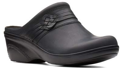 Clarks Marion Jess Leather Clog - Wide Width Available