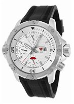 Swiss Legend Men's 'Seamonster' Quartz Stainless Steel and Silicone Casual Watch, Color:Black (Model: 10716SM-02S)