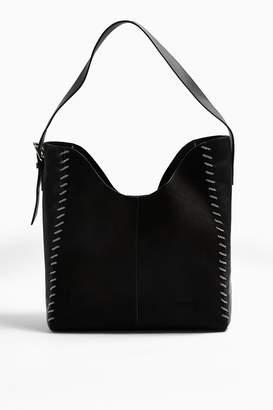 Topshop Womens Halo Black Chain Hobo Bag - Black