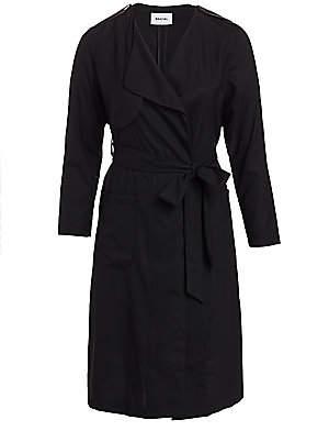 Baacal, Plus Size Women's Wool Gabardine Everyday Soft Trench Coat