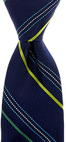 Roundtree & Yorke Rainbow Stripe Traditional Silk Tie